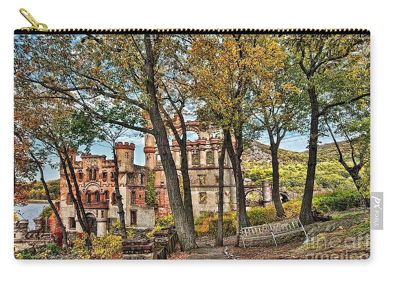 Pollepel Island Carry-all Pouch featuring the photograph Through The Trees by Claudia Kuhn