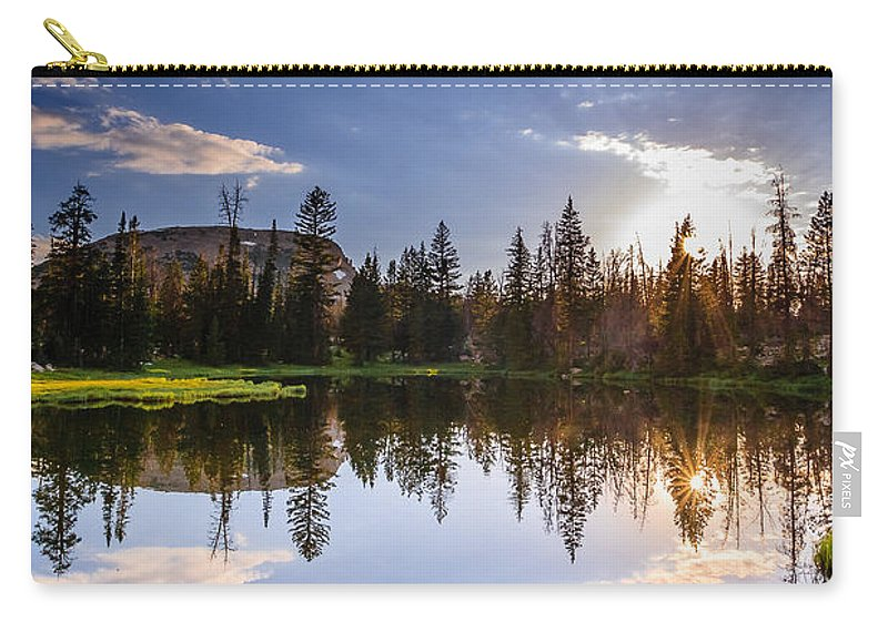 Gigimarie Carry-all Pouch featuring the photograph Through The Trees by Gina Herbert