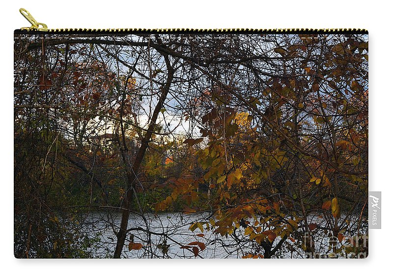 Trees Carry-all Pouch featuring the photograph Through The Trees by Judy Wolinsky