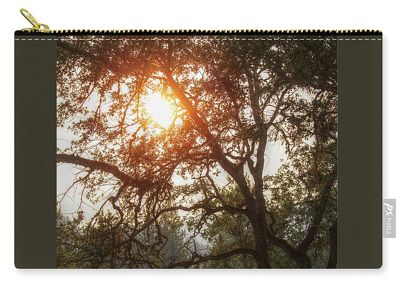 Sunset Carry-all Pouch featuring the photograph Through The Trees by Melanie Lankford Photography