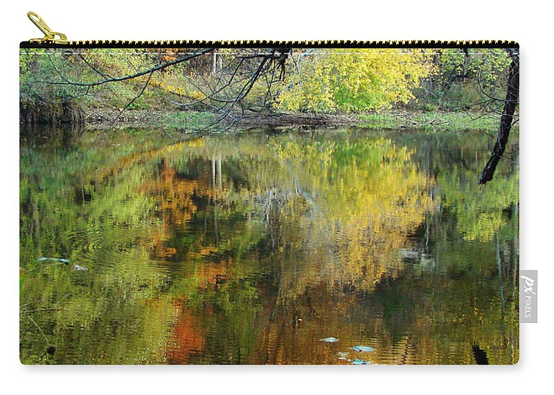 Lincoln Carry-all Pouch featuring the photograph Through The Tree's by Terry Anderson