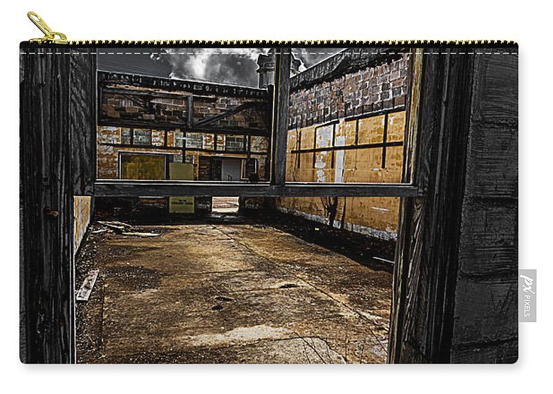 Abandoned Carry-all Pouch featuring the photograph Through The Window by Ken Frischkorn