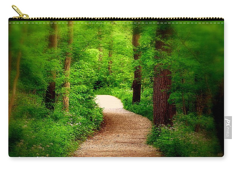 Path Carry-all Pouch featuring the photograph Through The Woods by Scott Polley