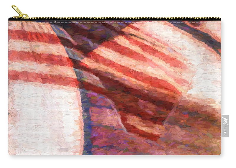 Flag Carry-all Pouch featuring the painting Through War And Peace by Bob Orsillo