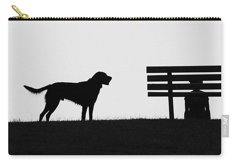 Dog Carry-all Pouch featuring the photograph Throw The Ball by The Artist Project