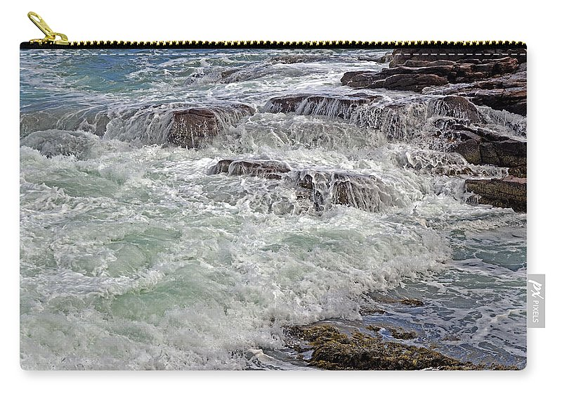 Sea Carry-all Pouch featuring the photograph Thunder And Lace by Lynda Lehmann