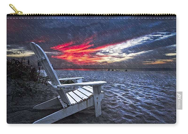 Clouds Carry-all Pouch featuring the photograph Thunderdawn by Debra and Dave Vanderlaan