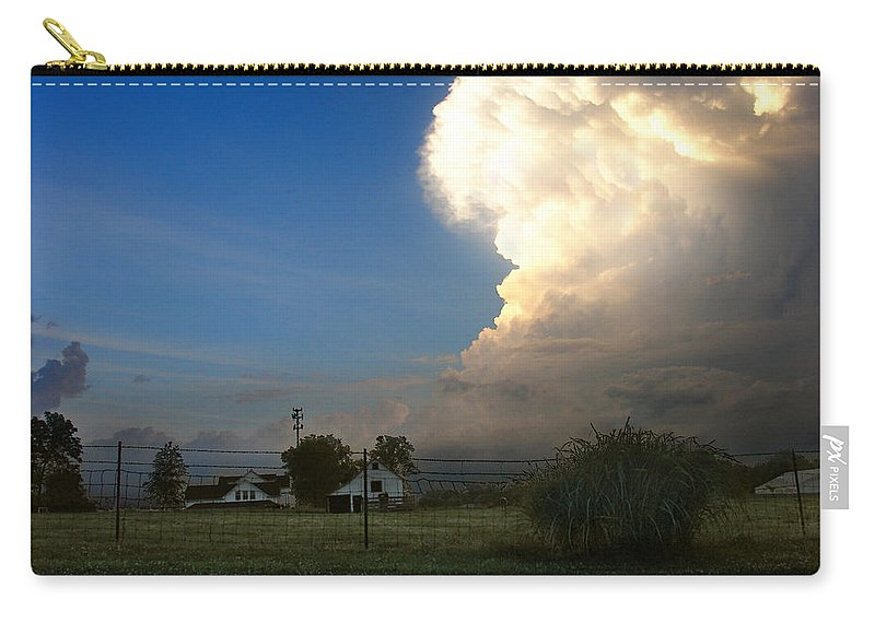 Landscape Carry-all Pouch featuring the photograph Thunderhead by Steve Karol