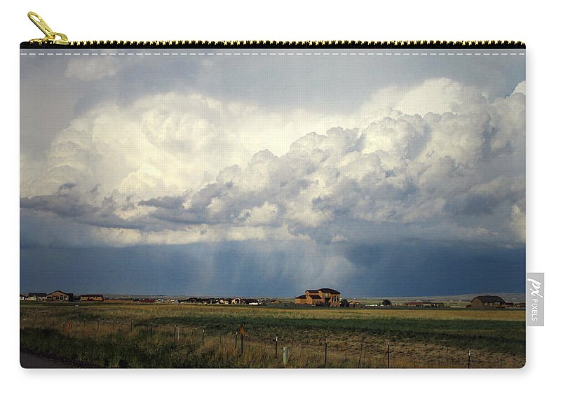 Clouds Carry-all Pouch featuring the photograph Thunderstorm On The Plains by Joyce Dickens
