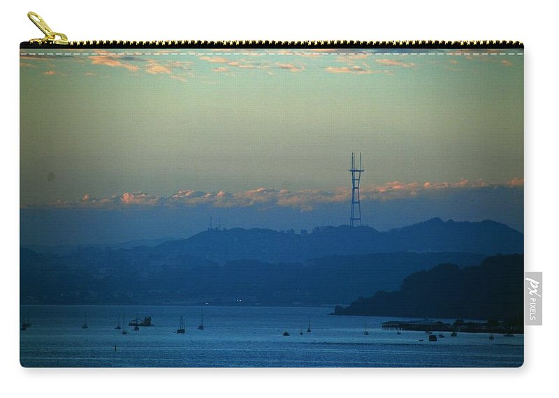 Sutro Tower Carry-all Pouch featuring the photograph Tiburon's View Of Sutro Tower by Eric Tressler