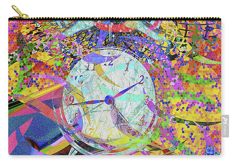 Abstract Carry-all Pouch featuring the digital art Tic Tac by Eleni Mac Synodinos