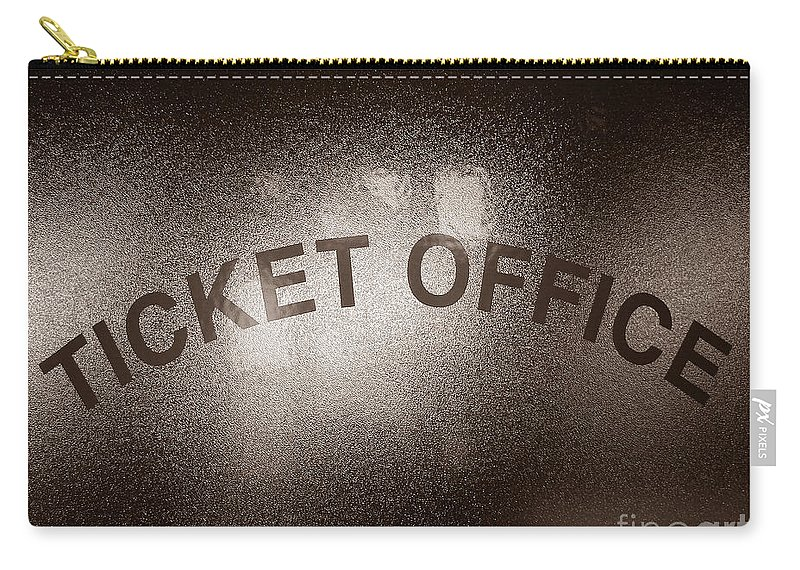 Ticket Carry-all Pouch featuring the photograph Ticket Office Window by Olivier Le Queinec