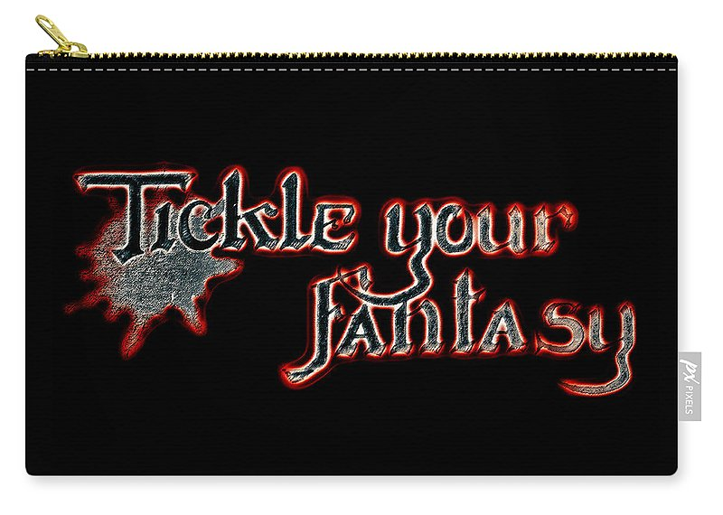 Tickle Your Fantasy Carry-all Pouch featuring the photograph Tickle Your Fantasy by Sennie Pierson