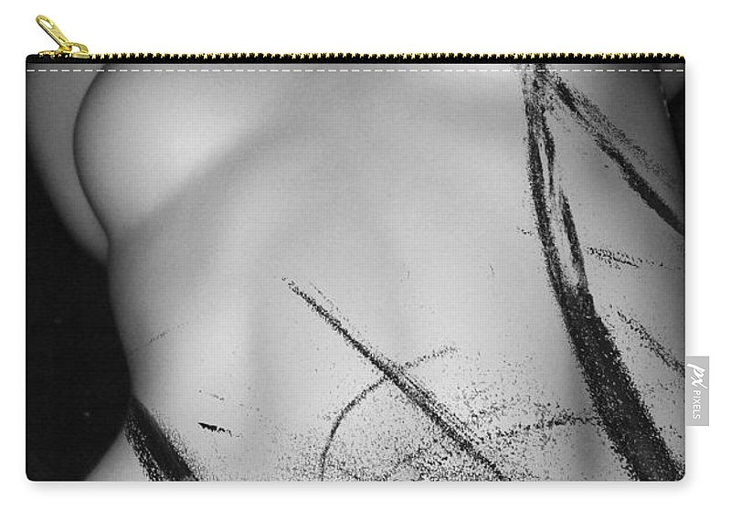 Abstract Carry-all Pouch featuring the photograph Tickles Beneath by The Artist Project