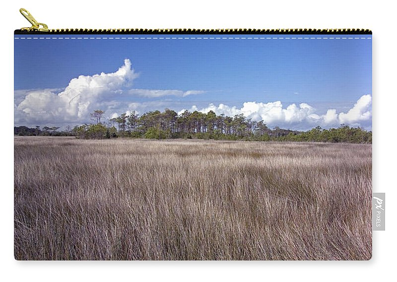 North Carolina Carry-all Pouch featuring the photograph Tidal Marsh On Roanoke Island by Greg Reed