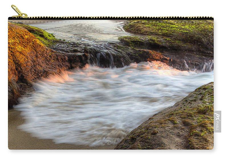 Bay Carry-all Pouch featuring the photograph Tidal Pull by Heidi Smith