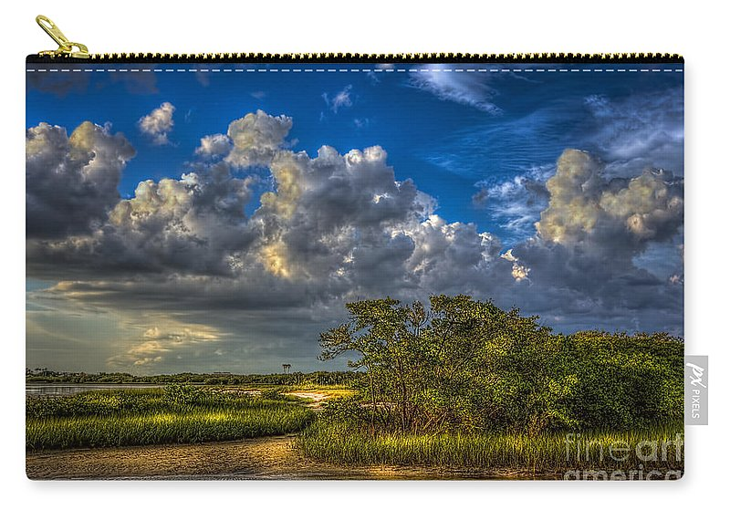 Clouds Carry-all Pouch featuring the photograph Tide Water by Marvin Spates