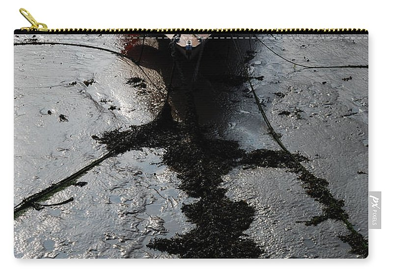 Tide's Out 1 Carry-all Pouch featuring the photograph Tide's Out 1 by Wendy Wilton