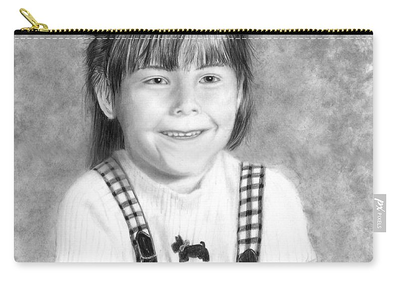 Portrait Carry-all Pouch featuring the drawing Tiffany by Peter Piatt