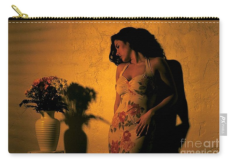Model Carry-all Pouch featuring the photograph Tiffany Vase by Gary Gingrich Galleries