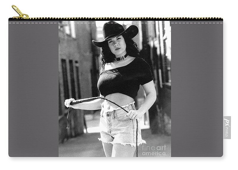 Model Carry-all Pouch featuring the photograph Tiffany Whip by Gary Gingrich Galleries