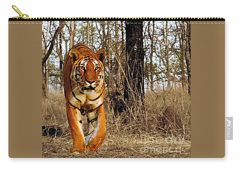 Animals Carry-all Pouch featuring the photograph Tiger 1 by Ben Yassa