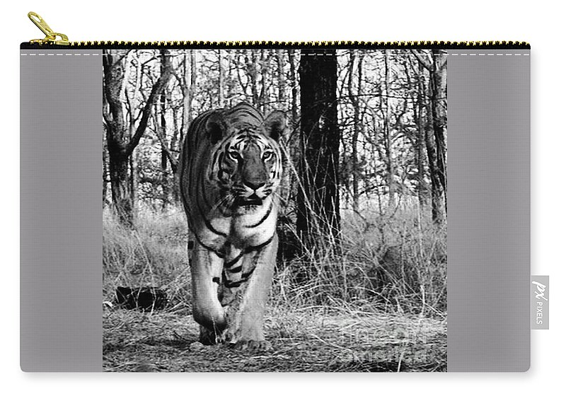 Animals Carry-all Pouch featuring the photograph Tiger 2 by Ben Yassa
