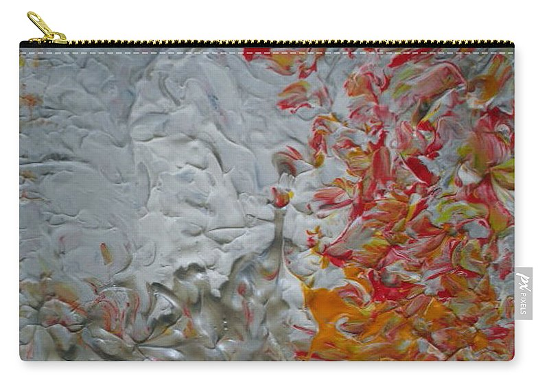 Lilies Carry-all Pouch featuring the mixed media Tiger Lilies On The Moon by Luz Elena Aponte