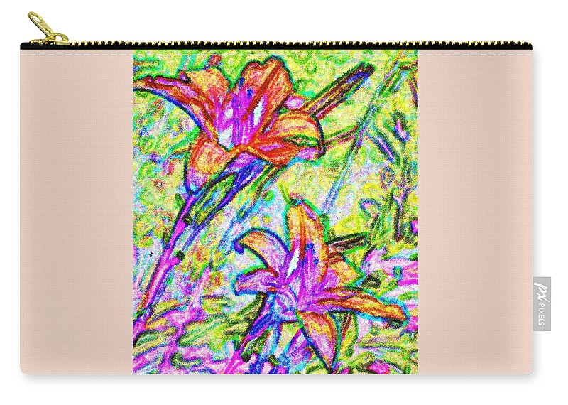 Tiger Carry-all Pouch featuring the photograph Tiger Lillies by Ian MacDonald
