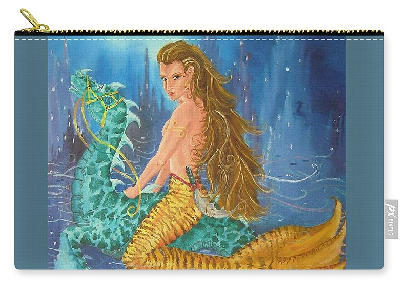 Tigerlily Carry-all Pouch featuring the painting Tiger Lily Tails by Nicole Angell