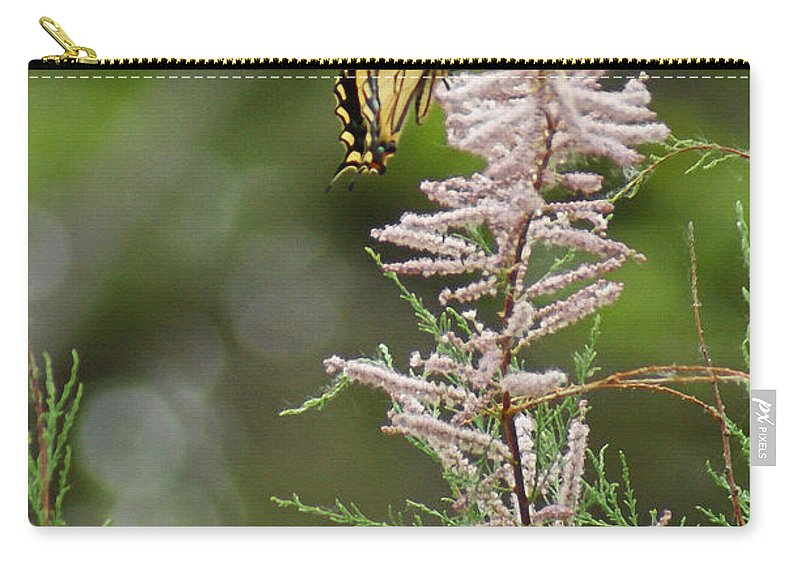 Bugs Carry-all Pouch featuring the digital art Tiger Swallowtails by Ernie Echols