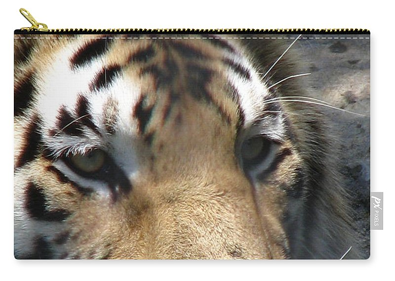 Patzer Carry-all Pouch featuring the photograph Tiger Water by Greg Patzer