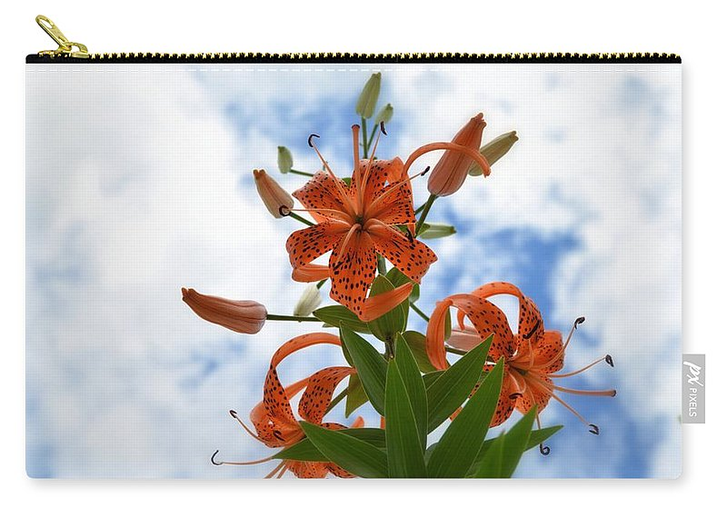 Flower Carry-all Pouch featuring the photograph Tigers In The Clouds 8567 by Bonfire Photography