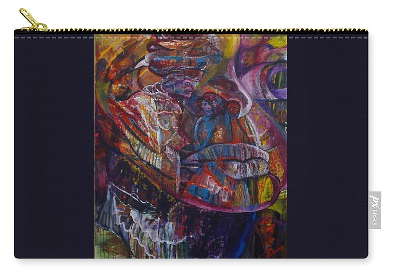 African Women Carry-all Pouch featuring the painting Tikor Woman by Peggy Blood