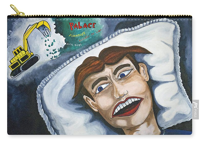 Asbury Park Carry-all Pouch featuring the painting Tillies Nightmare by Patricia Arroyo