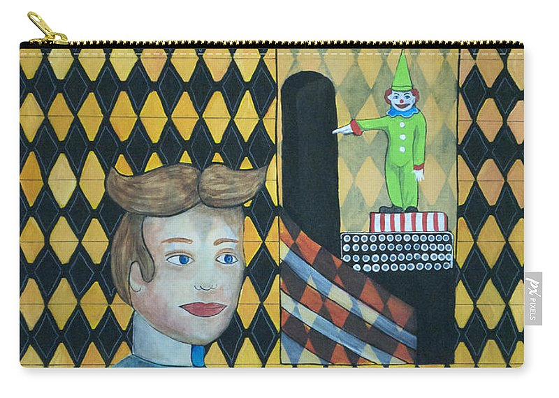 Asbury Park Carry-all Pouch featuring the painting A Postcard Memory by Patricia Arroyo