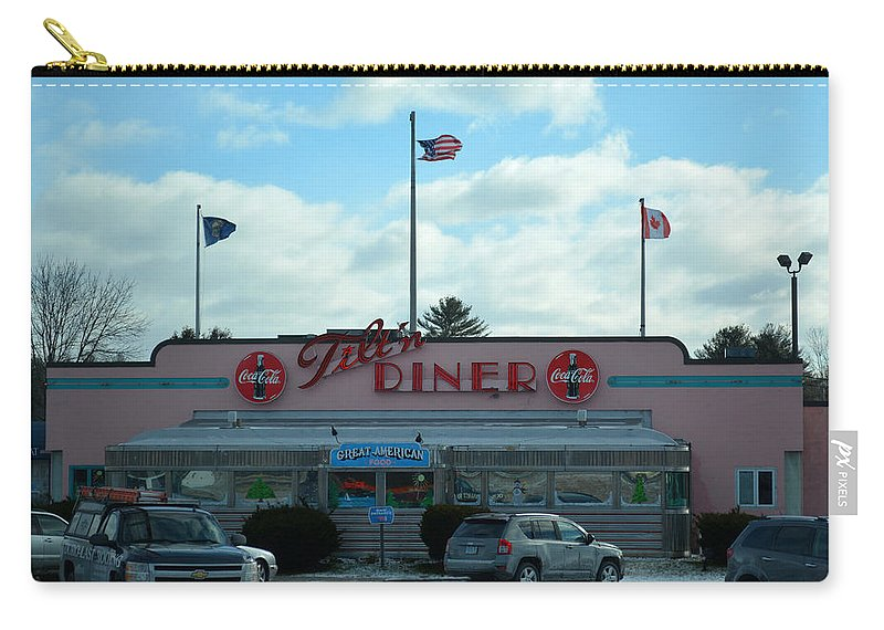 Tilt'n Diner Carry-all Pouch featuring the photograph Tilt'n Diner by Mim White