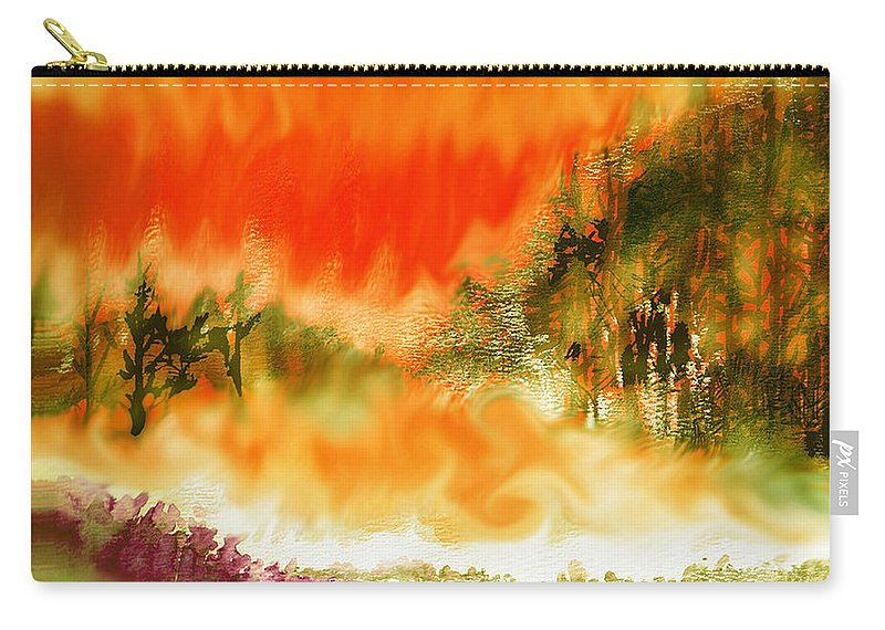 Timber Blaze Carry-all Pouch featuring the mixed media Timber Blaze by Seth Weaver