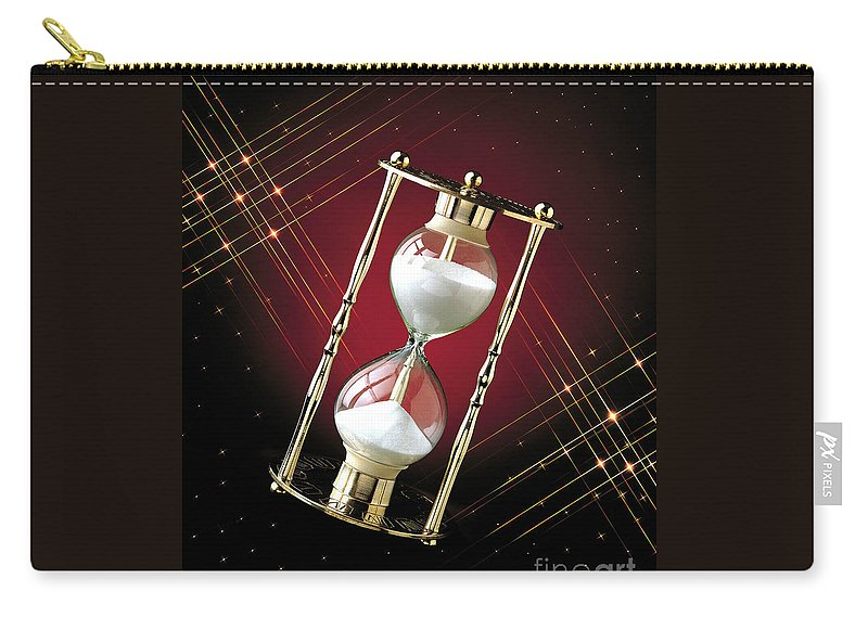 Hour Glass Carry-all Pouch featuring the photograph Time And Space by Gary Gingrich Galleries