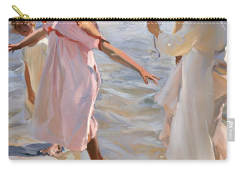 Painting Carry-all Pouch featuring the painting Time For A Bathe Valencia by Mountain Dreams
