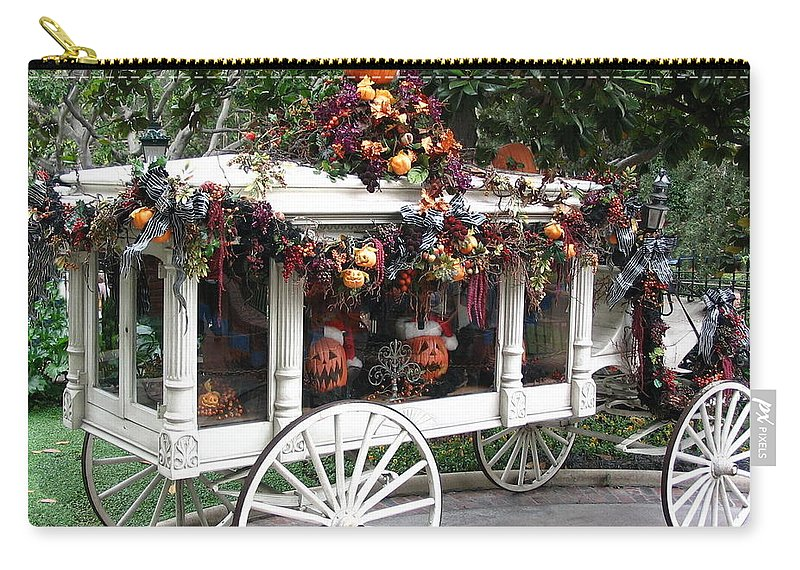 Hearse Carry-all Pouch featuring the photograph Time For Re-hearsal by Vivian Martin