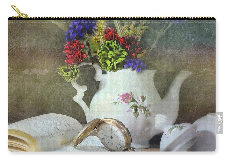 Still Life Carry-all Pouch featuring the photograph Time In A Pocket by Diana Angstadt