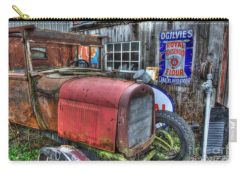 Antiques Carry-all Pouch featuring the photograph Time Marches On by Bob Christopher
