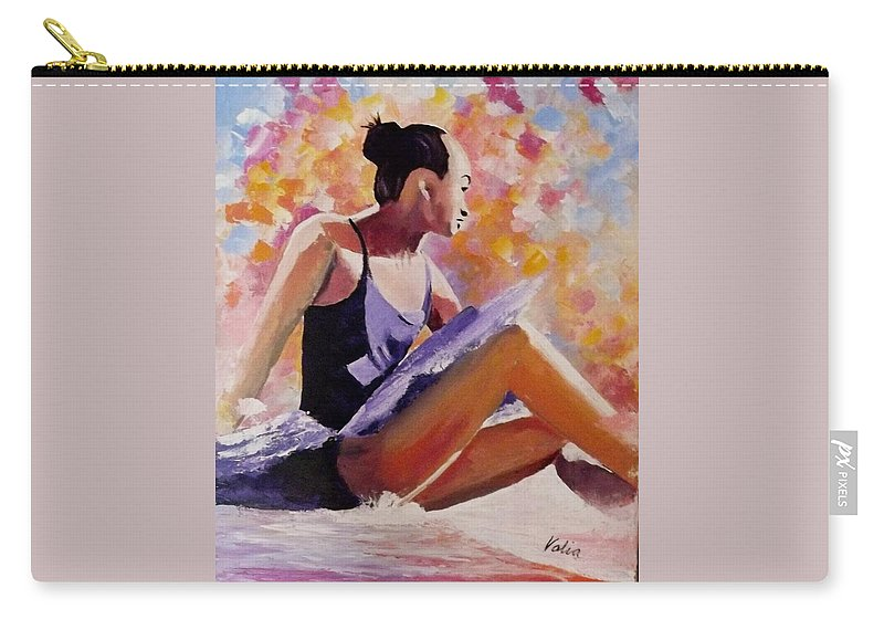 Ballet Carry-all Pouch featuring the painting Time Out by Valerie Curtiss
