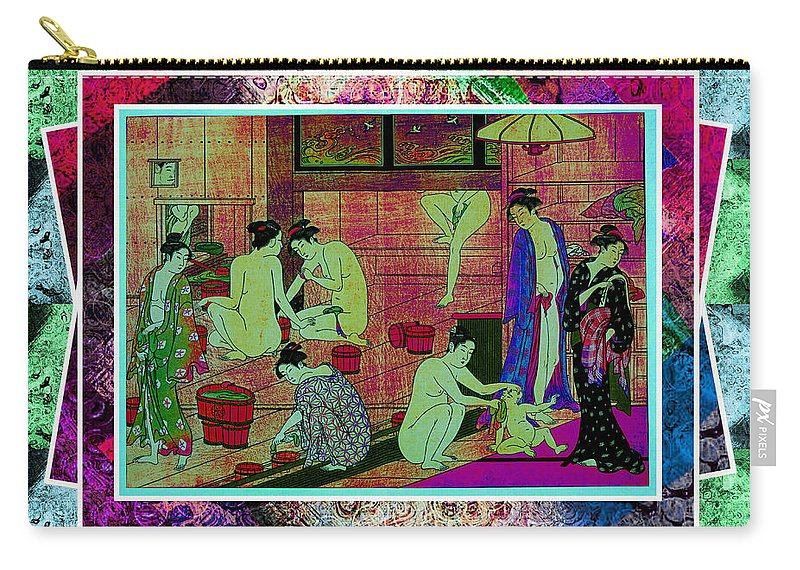 Women Carry-all Pouch featuring the digital art Time To Bathe by Ericamaxine Price