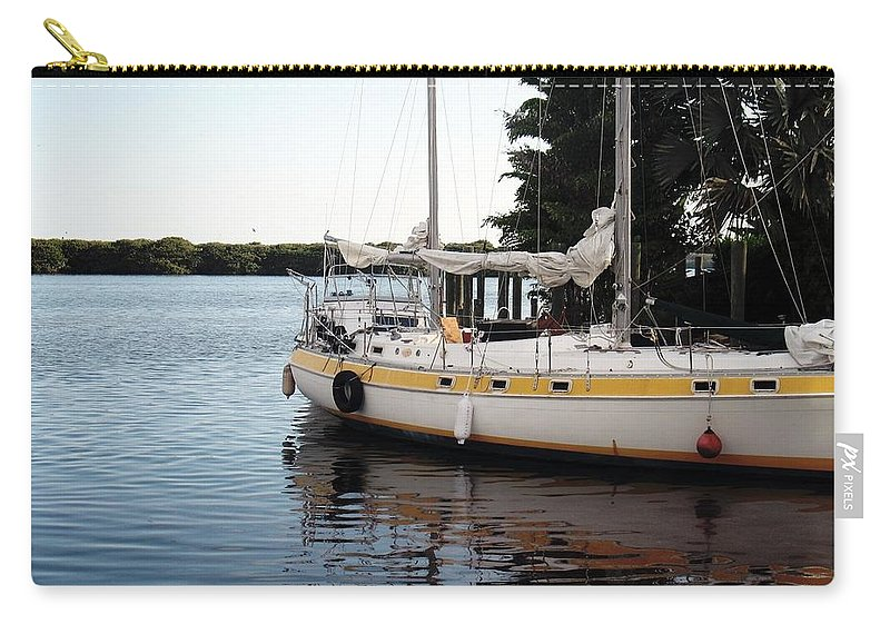 Boat Carry-all Pouch featuring the photograph Time To Go Fishing by Wendy Gertz