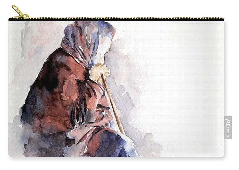 Stephie Butler Carry-all Pouch featuring the painting Time To Reflect by Stephie Butler