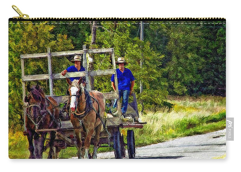 Amish Carry-all Pouch featuring the photograph Time Travelers Impasto by Steve Harrington