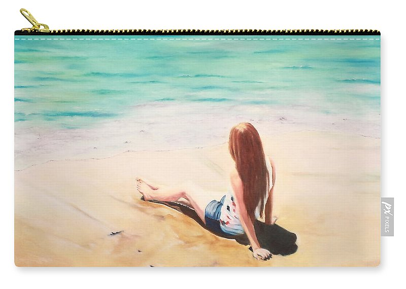 Figurative Carry-all Pouch featuring the painting Times Of Refreshing by Jeanette Sthamann