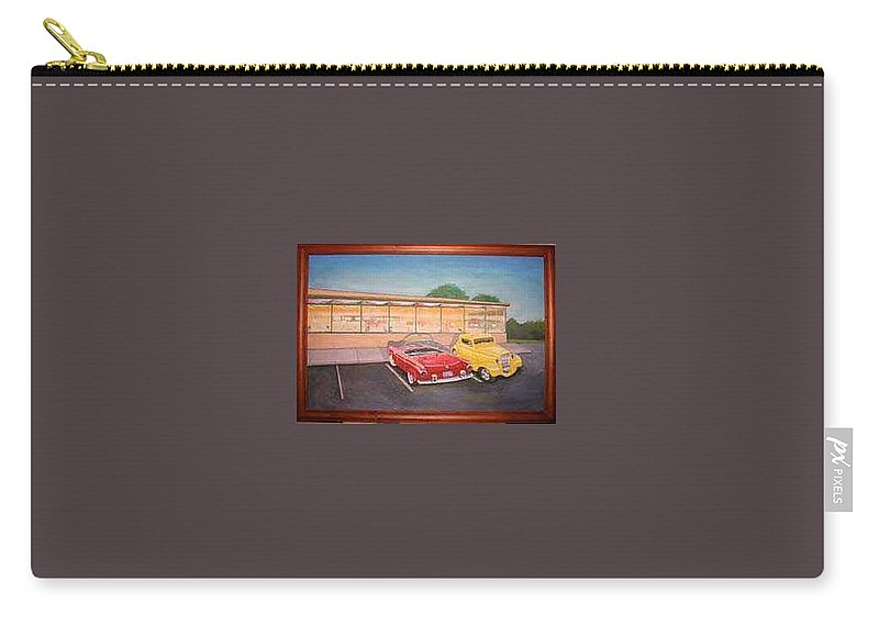 Rick Huotari Carry-all Pouch featuring the painting Times Past Diner by Rick Huotari